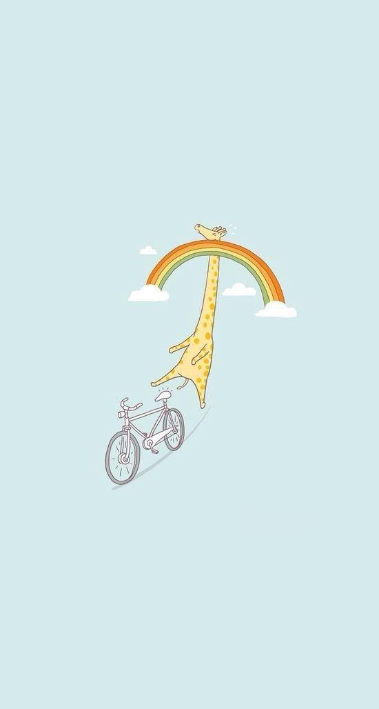 Oder diese Giraffe, die ihre Größe *etwas* unterschätzt hat: | 25 bezaubernde Hintergrundbilder für Dein Handy, die Dich zum Lächeln bringen