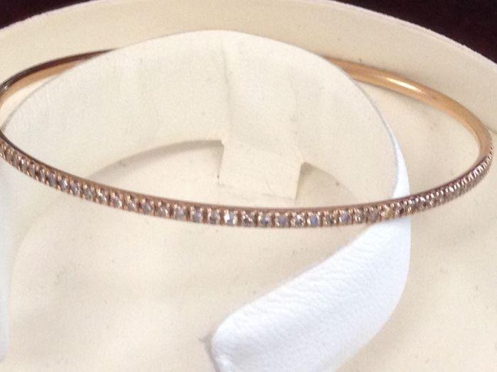 Stijve tennis armband met diamanten  Stijve circulaire tennis armband in 18 kt geel goud compleet met 1.3 ct briljant geslepen diamanten (kleur: G - duidelijkheid: VS)Gewicht: 8 gDiameter: 8.5 cmZal worden verzonden verzekerd voor de volledige waarde.  EUR 1.00  Meer informatie