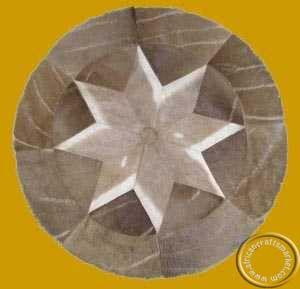 African Kudu skin circular mat