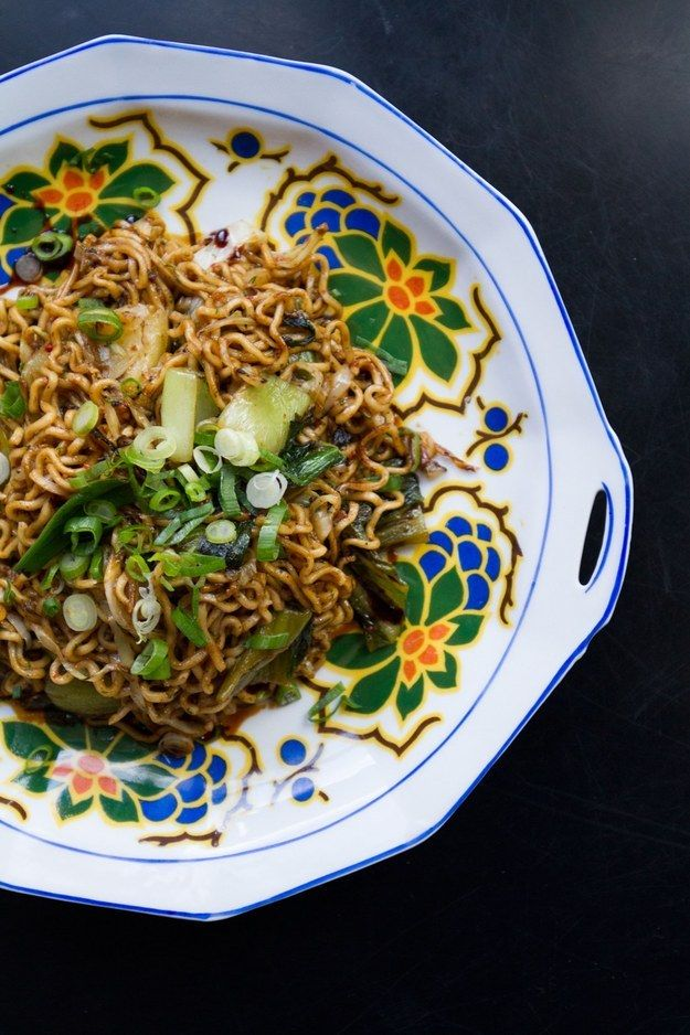 Spicy Lo Mein With Pickled Greens