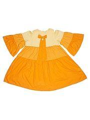 Платье SOFT SECRET.  Свободное трехярусное платье-туника из легкой вискозы. Застежка-молния в среднем шве спинки.