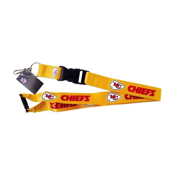 Aminco NFL Kansas City Chiefs Clip Lanyard Keychain Id Ticket Holder -