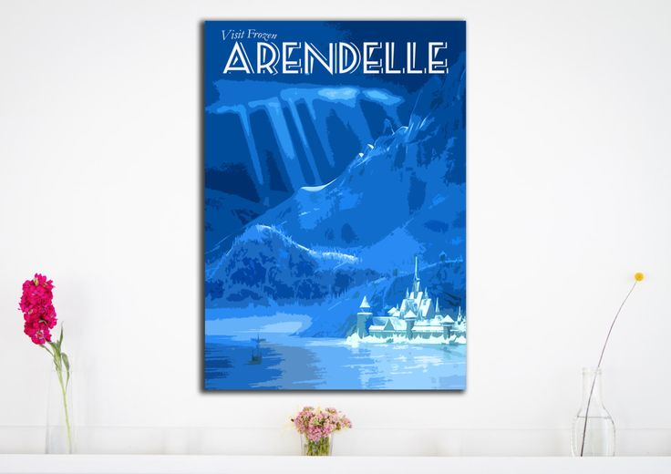 Frozen Arendelle - Poster Print - Disney Locations -  Frozen - Wall Art Poster Print (Available In Many Sizes) by HarknettPrints on Etsy https://www.etsy.com/listing/224415445/frozen-arendelle-poster-print-disney