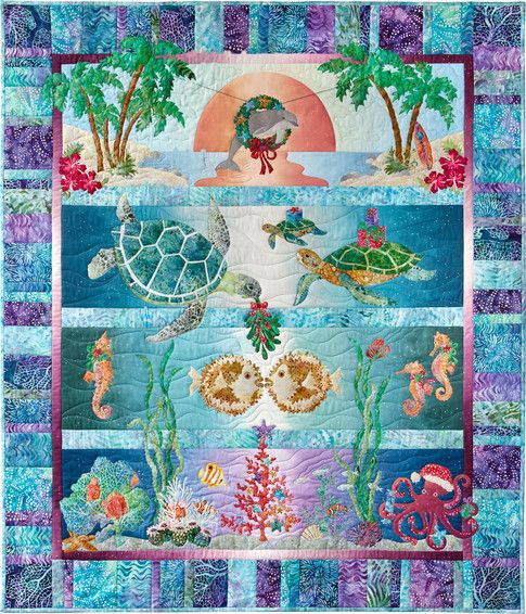 Tropical Noel designed by McKenna Ryan. Features Tigerfish by McKenna Ryan, shipping to stores October 2016. #artisanbatiks