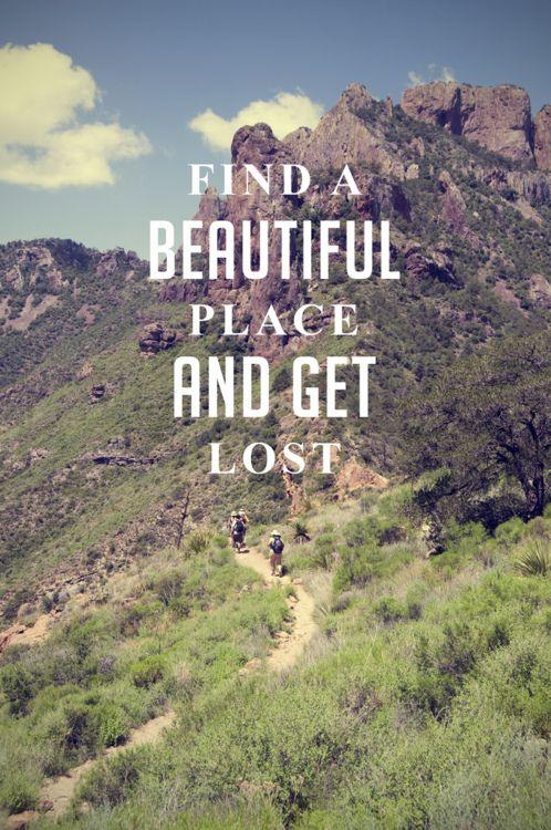 Let's get lost together.