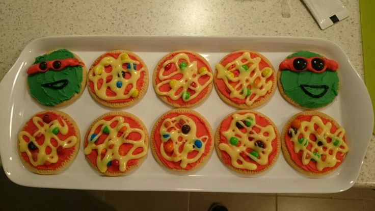 Tmnt and pizza biscuits