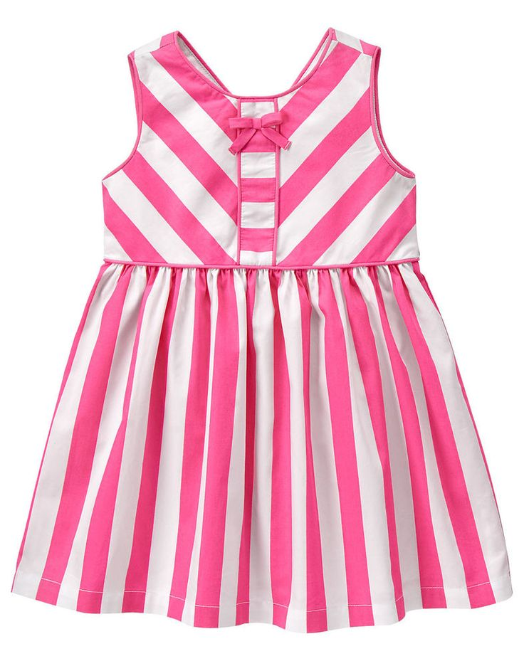 Gymboree Palm Springs Pieced Bow Dress Size 3T NWT