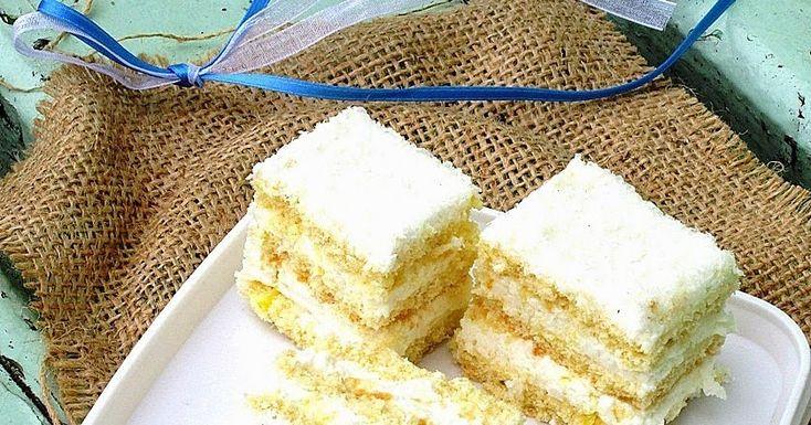 Snow White cake, lemon cream cake, #romanian recipe