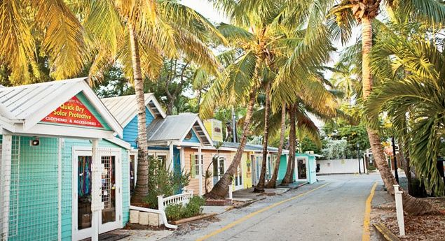 A shopping street near the cruise port in Key West, Fla. (From: 8 Fun Things Every Cruiser Should Do in Key West)