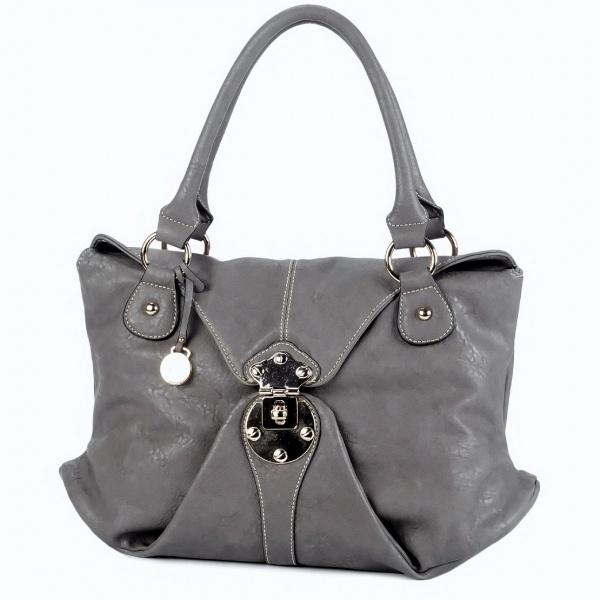 Susan Nichole Vegan Handbag Style #185 - Bree in Gray