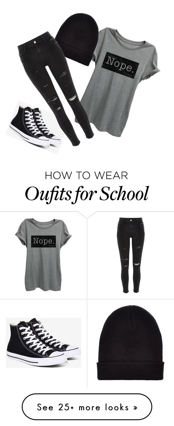 """""""Classic School"""" by meghanereilly on Polyvore featuring Converse, New Look and River Island"""