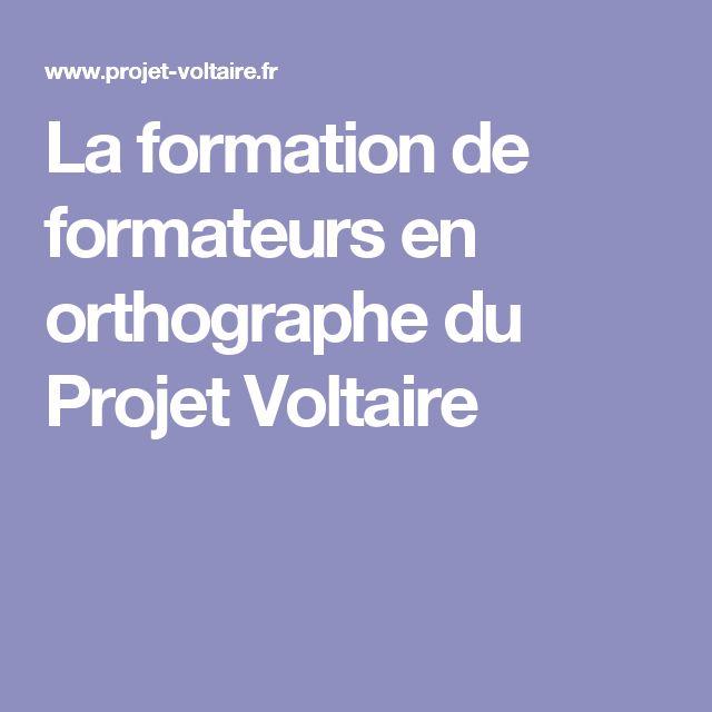La formation de formateurs en orthographe du Projet Voltaire