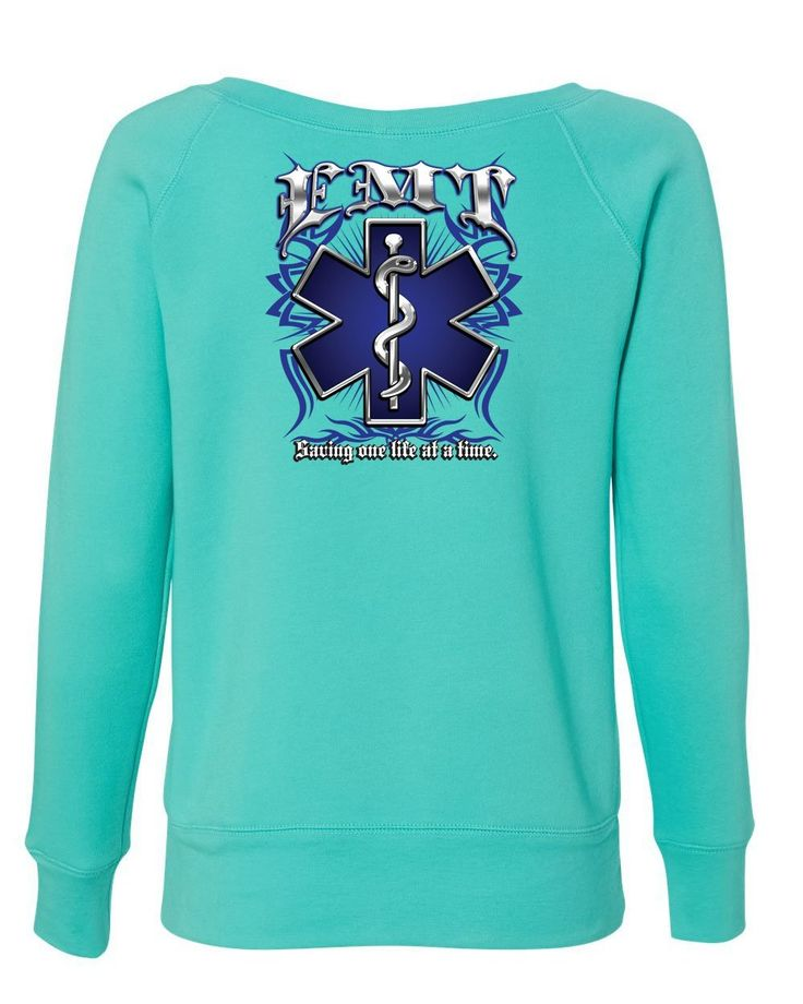 EMT Saving One Life at a Time Sweatshirt Paramedic First Responders Sweater