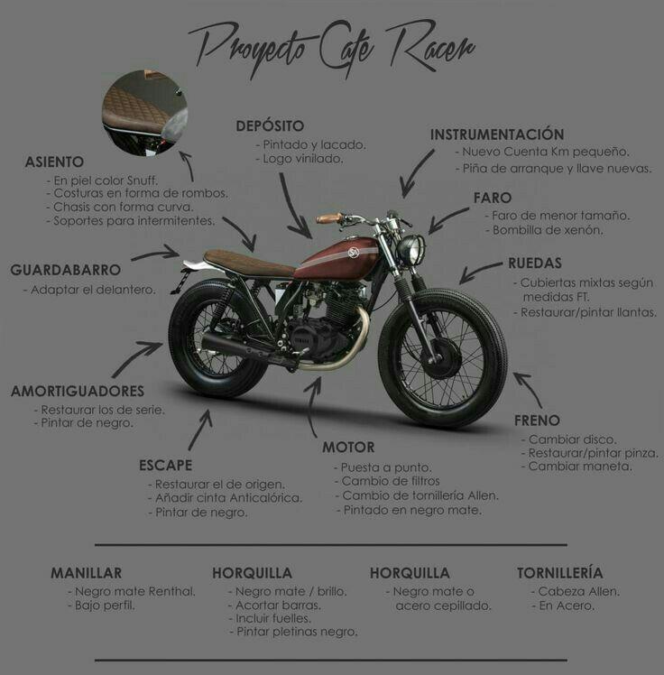 8965ed4e26e3db269e23c84b93e0dfce Jpg 736 748 Yamaha Cafe Racer Motos Personalizadas Modelos De Motos