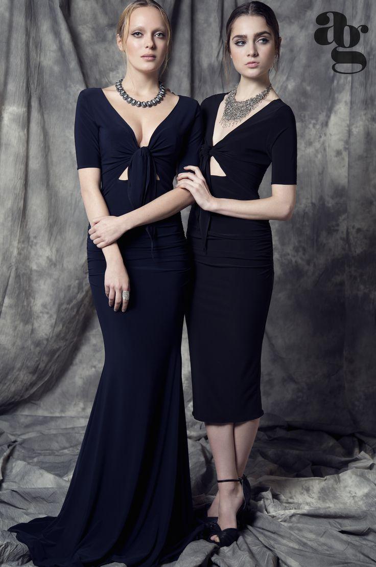 Front-Tie Gown & Front-Tie Dress - arti gogna Summer 2015 Collection - www.artigogna.com