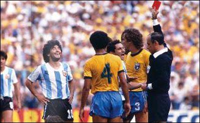 Second phase,Maradona sends off,Brazil vs Argentina 3-1