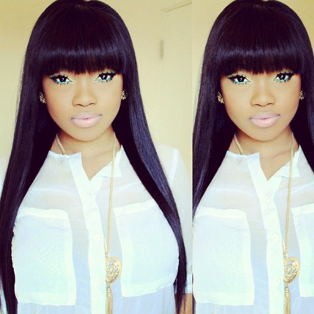 Full fringe weave | Hair Weave Killah | Pinterest | Dont