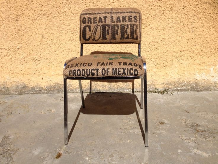 Chaise de bureau recyclé avec de sacs de café : Meubles et rangements par nicecoffeesac
