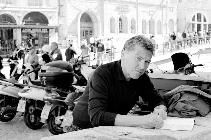 """Wolfgang Büscher zu Gast beim 5. Literaturfest München im Literaturhaus am 20.11.2014 mit seinem neuen Roman """"Ein Frühling in Jerusalem"""" (© Martin Lengemann)"""