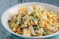 Σαλάτα ρυζιού µε κοτόπουλο