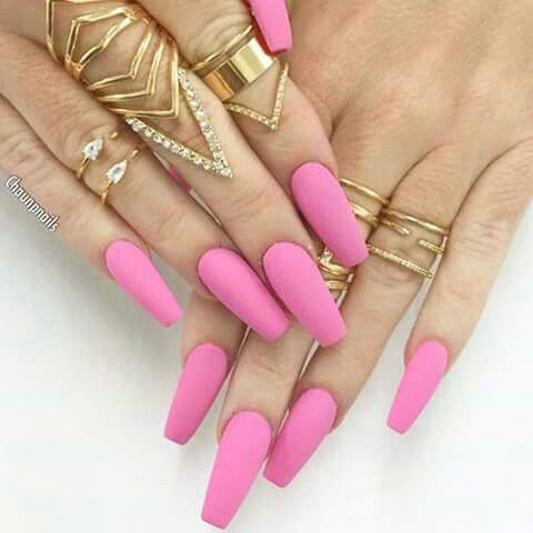 Pink Matte Nails | Coffin Nails | Pinterest | Matte Nails Pink And Nails