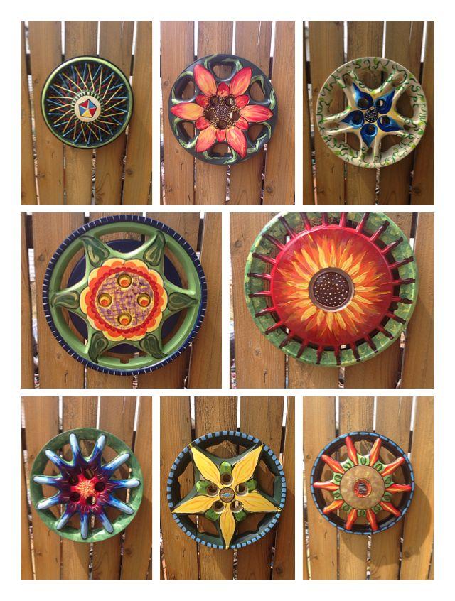 Hubcap garden art                                                                                                                                                                                 More