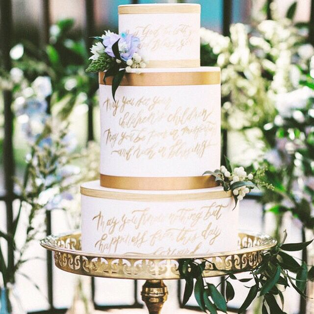 Loving the gold calligraphy on this cake. Image via @100_layercake #amazing #delicious #dessert #partyideas #partytable #partyplanner #partyplanning #eventdesign #eventplanner #diyparty #diywedding #weddingcake #weddingtable #weddingphotography #cake #cakeideas #cakedesign #thepartyatelier #partyinspiration #weddinginspiration #gold #white