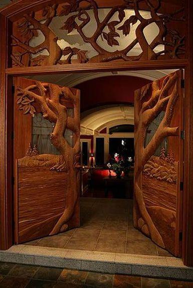 WOW, amazing artisan carved doors