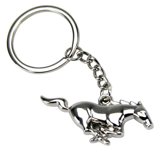 Ford Mustang running pony emblem keychain, polished. #Accessories