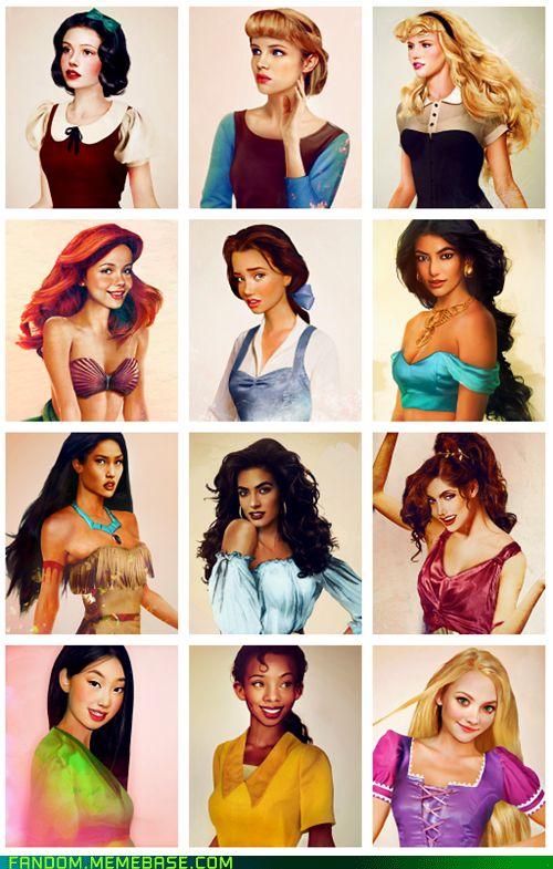the princesses come to life.