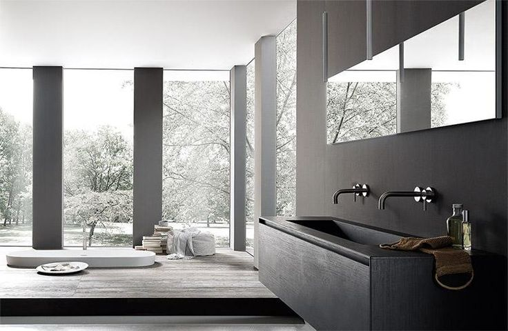The evolution of the contemporary bathroom decoration: new volumes, traditional elements, love for details. This is BLADE #designbathroom. #designhome #designkitchen www.modulnova.it