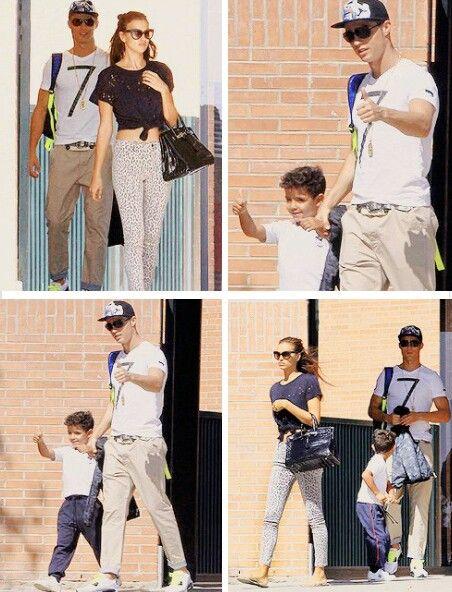 Cristiano Ronaldo, Irina Shayk, and Cristiano's Son.