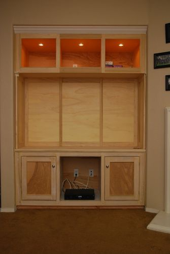 Entertainment Center #1: Built in Entertainment Center - by Luke @ LumberJocks.com ~ woodworking community