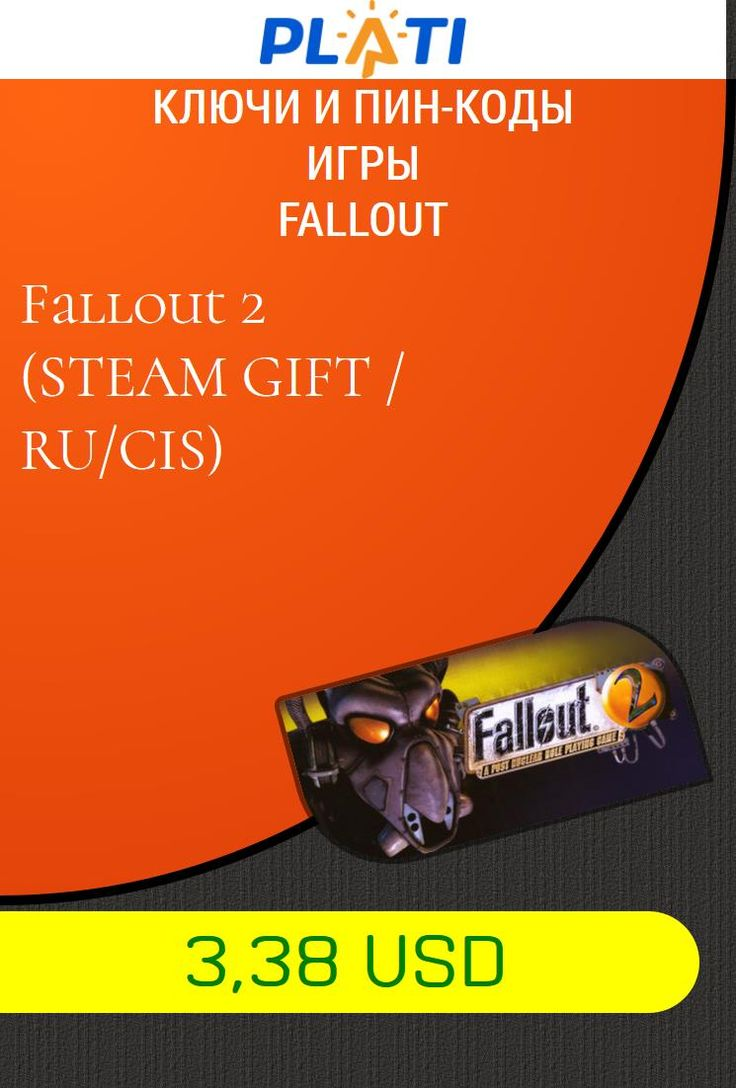 Fallout 2 (STEAM GIFT / RU/CIS) Ключи и пин-коды Игры Fallout