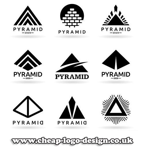 pyramid symbol ideas for company logos www.cheap-logo-design.co.uk #pyramidlogo #pyramidcompanylogo #pyramid