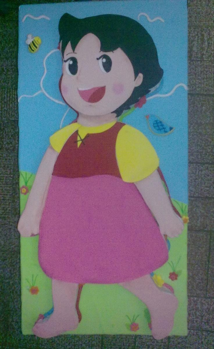 :)3D CAKEI made it for my niece 1st b-day/ TORTA DECORADA FIGURA MOTIVO : HEIDI ( (CUMPLEAÑOS NUMERO 1 VICTORIA ISABEL) 3KL 1 MTR DE LARGO 40CM DE ANCHO