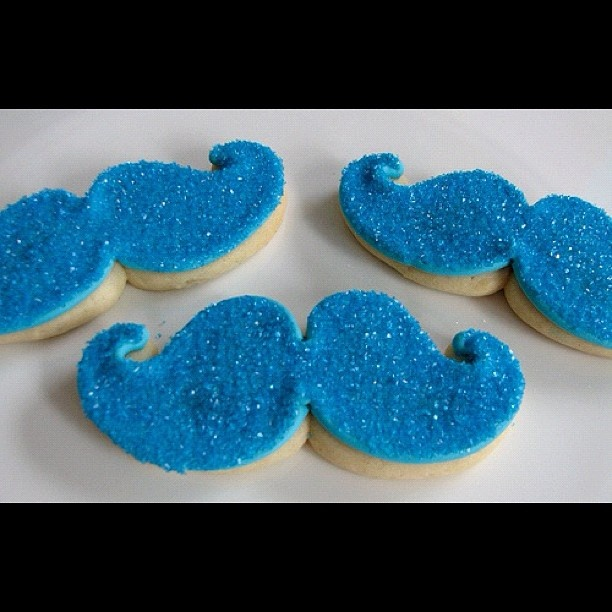 I decided these would be perfect for a Baby Boy baby shower! Mustache  sugar cookies! ! from IG's love_food