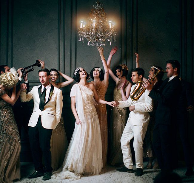 Romantic Wedding Inspiration from The Great Gatsby | Green Wedding Shoes Wedding Blog | Wedding Trends for Stylish + Creative Brides