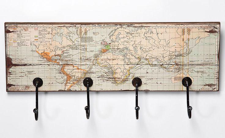 Perchero Rectangular Mapa del Mundo   Material: Madera Tropical   Mueble realizado en Madera de Tropical y Hierro... Eur:98 / $130.34                                                                                                                                                                                 Más