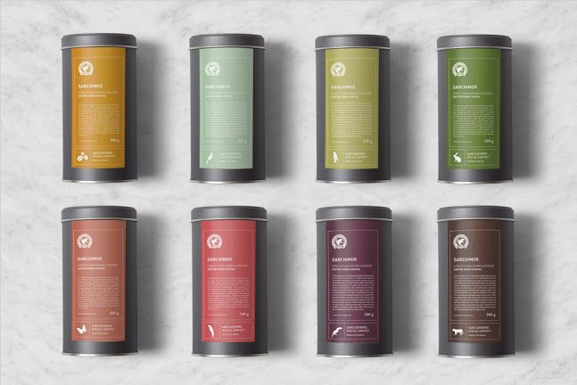 Package design for a line of coffee beans from Special Harvest Cafe Custepec. Design by Behagen.
