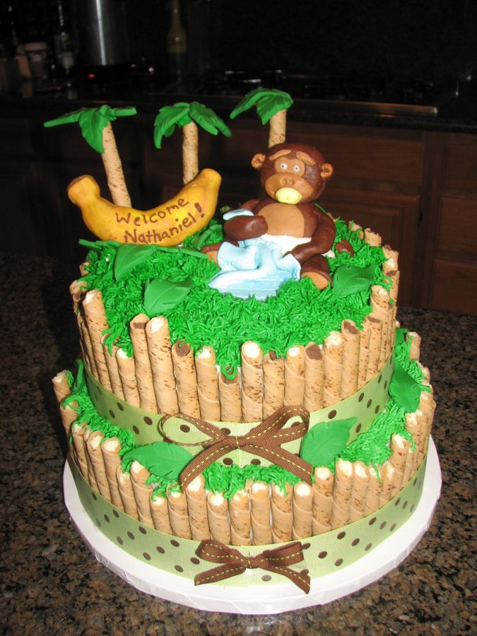 Monkey Baby Shower Cake Ideas
