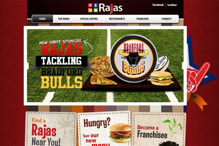 Rajas - Restaurant website http://rajas.co.uk #design #development