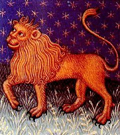 "Leo (♌) is the fifth astrological sign of the Zodiac, originating from the constellation of Leo. It spans the Zodiac between the 120th and 149th degree of celestial longitude. In astrology, Leo is considered to be a ""masculine"", positive (extrovert) sign. It is also considered a fire sign and is one of four fixed signs[1] ruled by the Sun.  In the Tropical zodiac, the sun transits this area of the zodiac between July 22 to August 23 each year."