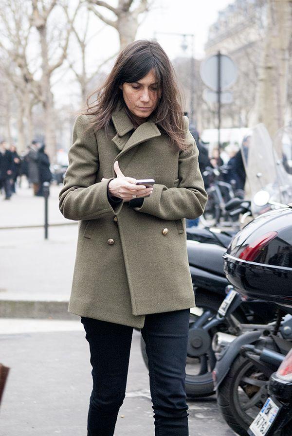 paris2london:  (via Peeptoes: PFW: Street Style I)  Emmanuelle Alt, Editor-in-Chief of Vogue Paris