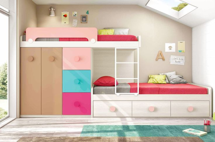 1000 id es propos de lit superpos fille sur pinterest. Black Bedroom Furniture Sets. Home Design Ideas