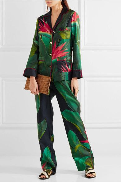 F.R.S For Restless Sleepers | Crono printed silk-twill pants | NET-A-PORTER.COM