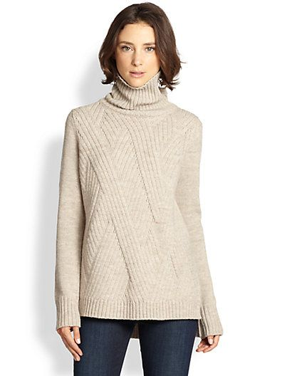 Vince - Crossover Ribbed Sweater - Saks.com