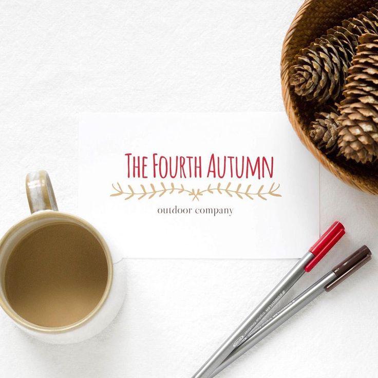 The Fourth Autumn premade logo by 21B Creative