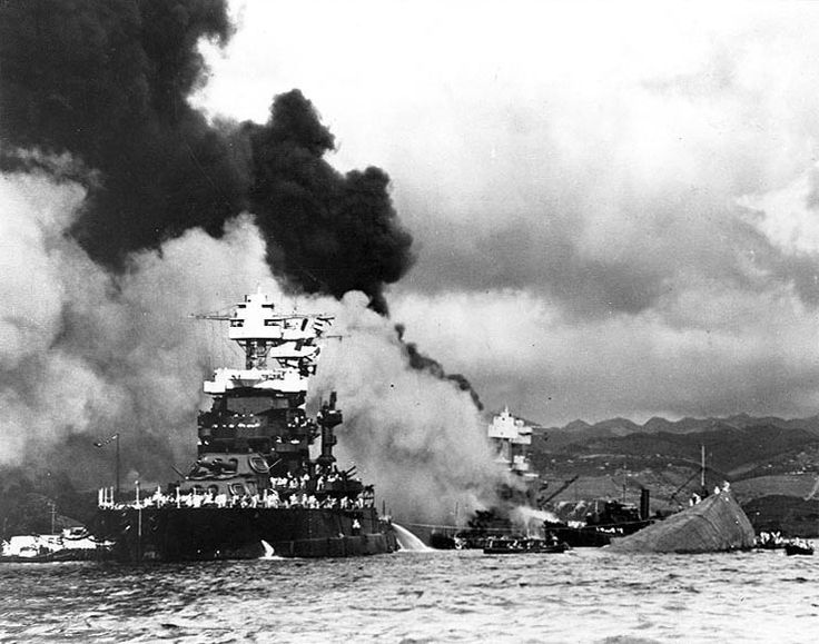 """Pearl Harbor - capsizing USS Oklahoma, Dec 7 1941 COMPLETE BROADCAST 1941 (JAPANESE ATTACK ON PEARL HARBOR) """"DAY OF INFAMY"""" Click image to listen to a sample audio."""