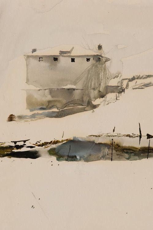 likeafieldmouse:  Andrew Wyeth- Farm Pond